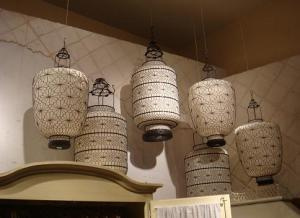 Gorgeous white wire lanterns
