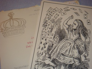 Added detail. Notice the crown she has stamped on the envelope?